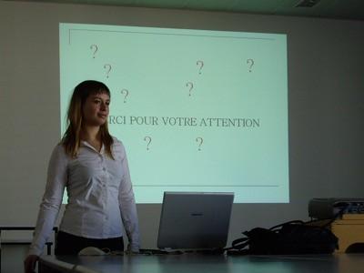 Andrea tras presentar su proyecto