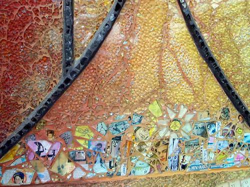 Unique Mosaic Artist – Ellen Blakeley – Tempered Glass Mosaic Mural – San  GS03