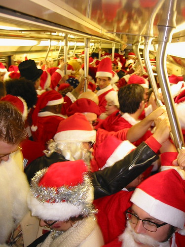 Santa on Subway