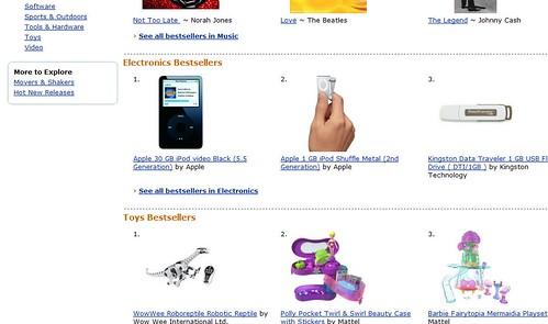 AmazonDotCom Bestsellers 2006