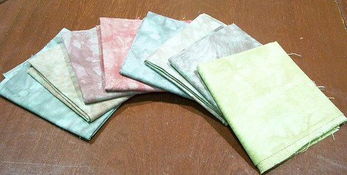 Fabric Dyeing - Forest Floor - Light colours