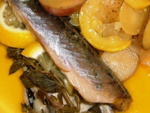 Mackerel & Olive Oil Braised Vegetables