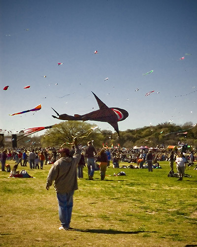 The Zilker Kite Festival ~ via cloverity on Flickr.com