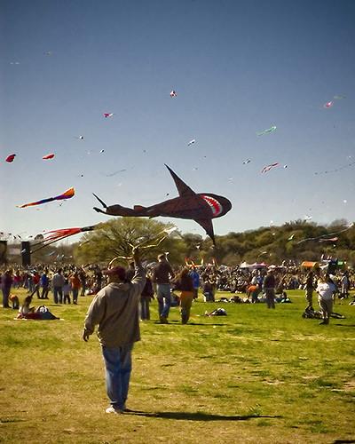 The Zilker Kite Festival ~ via cloverity on Flickr.com