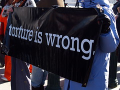 """Torture Is Wrong"" Sign At The Inter..."