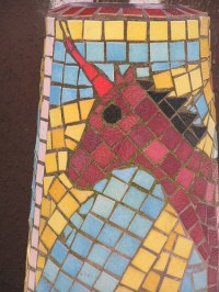 Ceramic Tile  Mosaic Bollards  Glasgow, Scotland ...