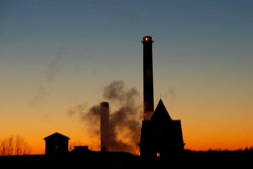 Sunset in Columbia Missouri Powerplant