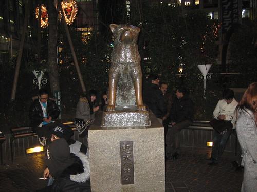 EL perro de Hachiko en Shibuya