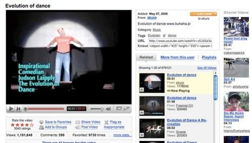 YouTube - evolution of dance