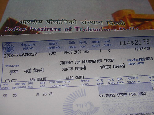 Tickets to Agra