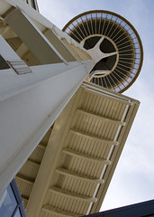 """IMG_5751: Looking Up the Space Needle • <a style=""""font-size:0.8em;"""" href=""""http://www.flickr.com/photos/54494252@N00/19419287/"""" target=""""_blank"""">View on Flickr</a>"""