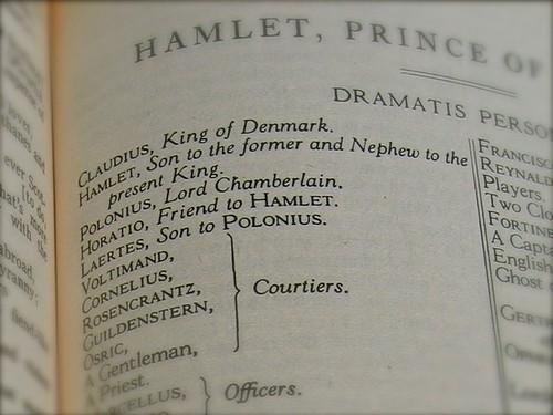 A script of Hamlet