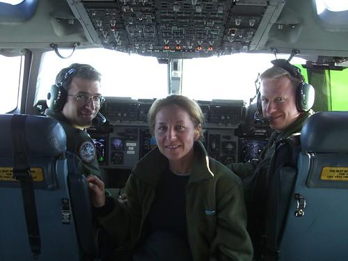 Dorota in the cockpit