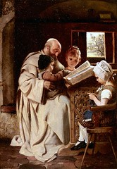 Reading the Bible, by Hermann Kaulbach (1846-1909)