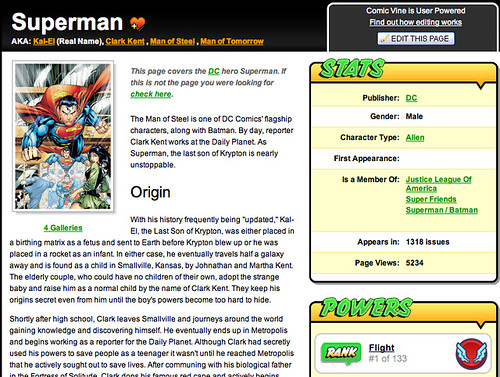 Superman in ComicVine