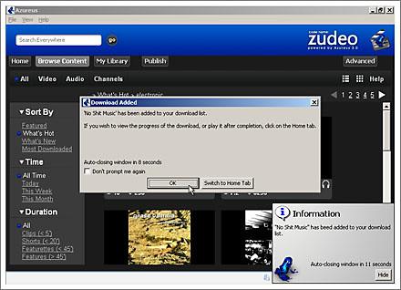 azureus first download