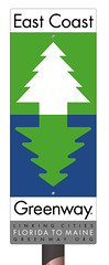 East Coast Greenway Sign