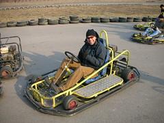 Ivan in his go cart