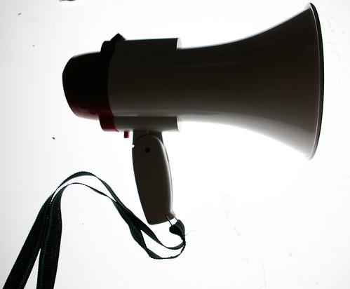 Toy sampling megaphone