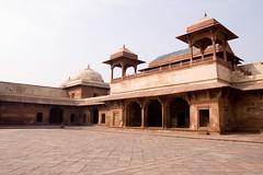 Jodha's courtyard