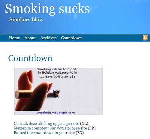 smoking countdown