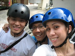 Before our luge ride @ Sentosa