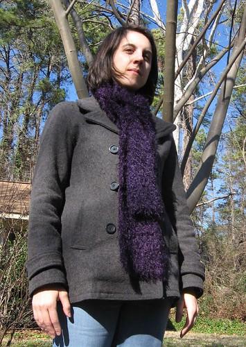 purple muppet scarf