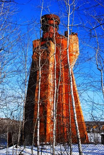 Shaft entrance at the abandoned Hiawatha Iron Ore Mine, U.P. Michigan