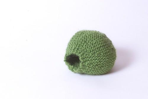 Knit Pea - Before Felting