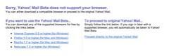 Safari rejected in Yahoo Mail beta