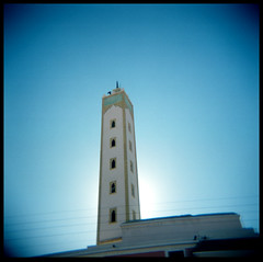 Holga Morocco: Minaret in Tafraoute, Morocco by See Wah
