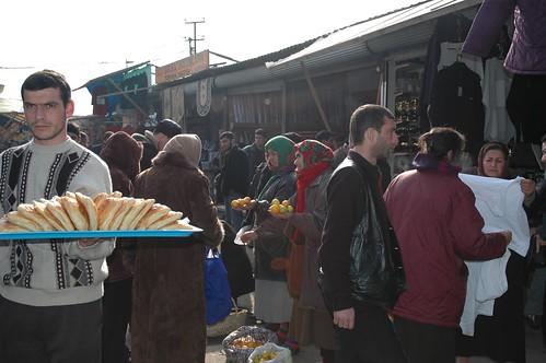 Food Sellers at the Bazaar, Baku. by vagabondblogger.
