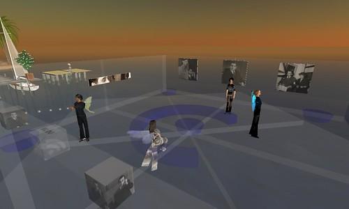 Installation du bureau de l'Institut Mendès France dans Second Life