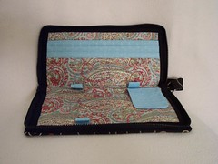 fashion checkbook clutch-inside empty
