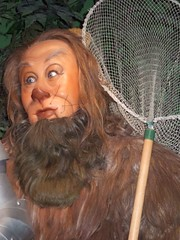 Bert Lahr as the Cowardly Lion in Wizard of Oz...
