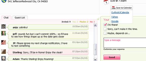 Renkoo with Yahoo! Calendar