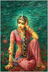 Radharani Feeling Separation From Lord Krishna