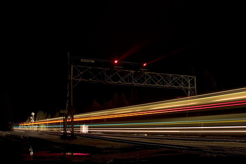 Night Lights of a Train
