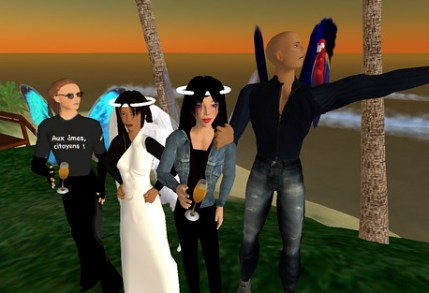 Happy New Year 2007 - Bonne année in Second Life
