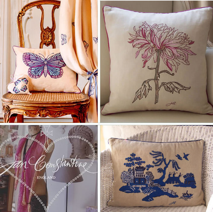 Jan Constantine Embroidered Collection