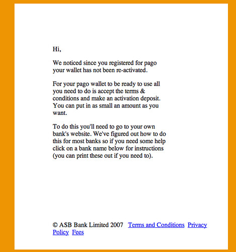 pago email