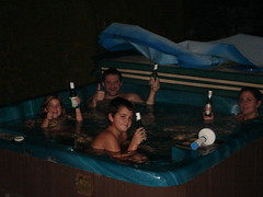 Christmas Day '06 In the Hot Tub!
