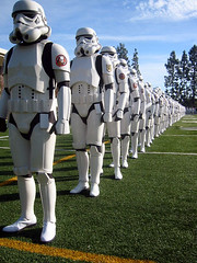 Stormtroopers practicing for the 2007 Tournament of Roses Parade