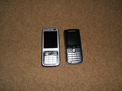 Nokia N73 SE K750i Size Comparison