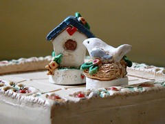 Tiny Bird & Birdhouse