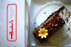 Andre's Confiserie Pistachio Buttercream-Layered Chocolate Cake