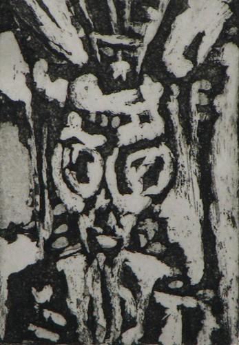 Uncle M, aquatint print