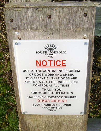 notice at Caistor St Edmund, Norfolk, UK