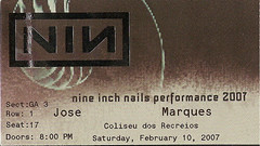 NIN ticket 2007-02-10 Lisbon Coliseum