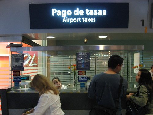 Airport taxes of 18USD